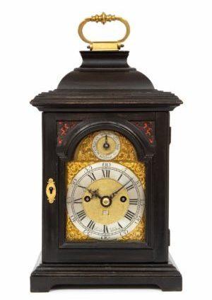 A Rare Miniature English Quarter Repeating Table Clock By Rimbault, Circa 1740