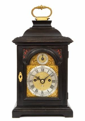 A Rare Miniature English Quarter Repeating Table Clock By Rimbault, Circa 1750