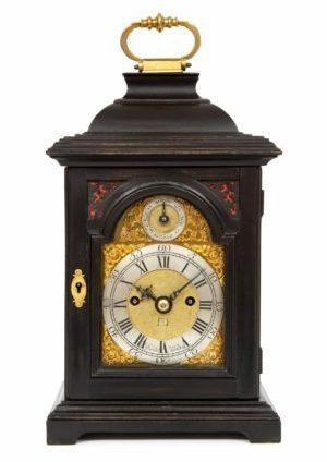 English-miniature-ebonised-antique-table-clock-quarter-repeating-rare-Rimbault-London-1