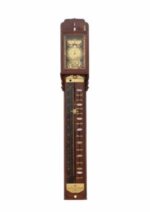 Japanese-pillar-antique-clock-shaku Dokei-shitan-striking-Meiji-