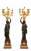 French-Louis XVI-ormolu-bronze-sculptural-candelabra-Francois Remond-Thomire-marble-Galle