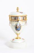 Miniature-Swiss-silver-guilloche-translucent-enamel-cercle-tournant-annular-urn-travel-antique-clock