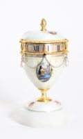 Miniature-Swiss-silver-guilloche-translucent-enamel-cercle-tournant-annular-urn-travel-antique-clock