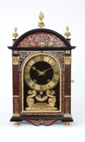 French-Boulle-ormolu-ebony-religieuse-antique-clock-Louis XIV-Gabriel Dumas-Paris