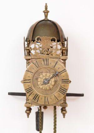 A French Brass Miniature Lantern Alarm Timepiece, Ledoux A Paris Circa 1725