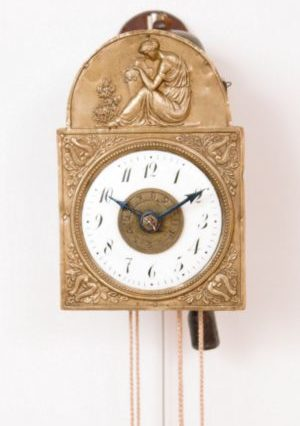 German-Black-Forest-Sorg-miniature-antique-clock-striking-alarm-wall