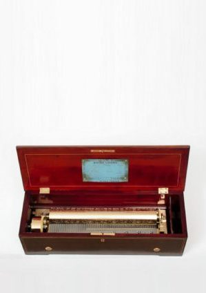 Swiss-Nicole-Freres-cylinder-music Box-musical-rosewood-mozart-sidewinder-marquetry-