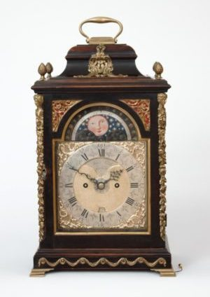 An English Table Clock With Date And Moonphase For The Dutch Market, James Smith, Circa 1770