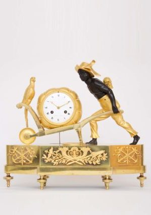 A Rare French Empire Ormolu And Bronze 'au Bon Sauvage' Mantel Clock Lesieur à Paris, Circa 1800