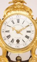French-Louis XV-ormolu-rococo-Saint Germain-St Germain-Lenoir-antique-clock-quarter-repeating-mantel-clock