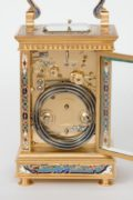 French-cloisonne-gilt-brass-antique-carriage-clock-travel-grande-sonnerie-enamel-repeating-