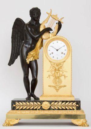 A Fine French Empire Ormolu And Bronze Mantel Clock By Bronzier Claude Galle, Circa 1810