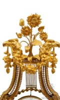 French-Belgian-Bruxelles-Louis XVI-lyre-ormolu-fire-gilt-marble-skeletonized-antique-mantel-oscillating-clock-vanderstaen