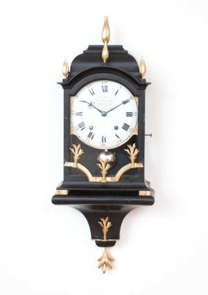 A Small Swiss Louis XVI Ebonised Quarter Striking Bracket Clock, DuComun, Circa 1780