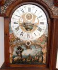 Dutch-burr-walut-calendar-moonphase-date-month-season-ships-automaton-antique-longcase-grandfather-clock-Amsterdam-du Chesne-rococo-striking-
