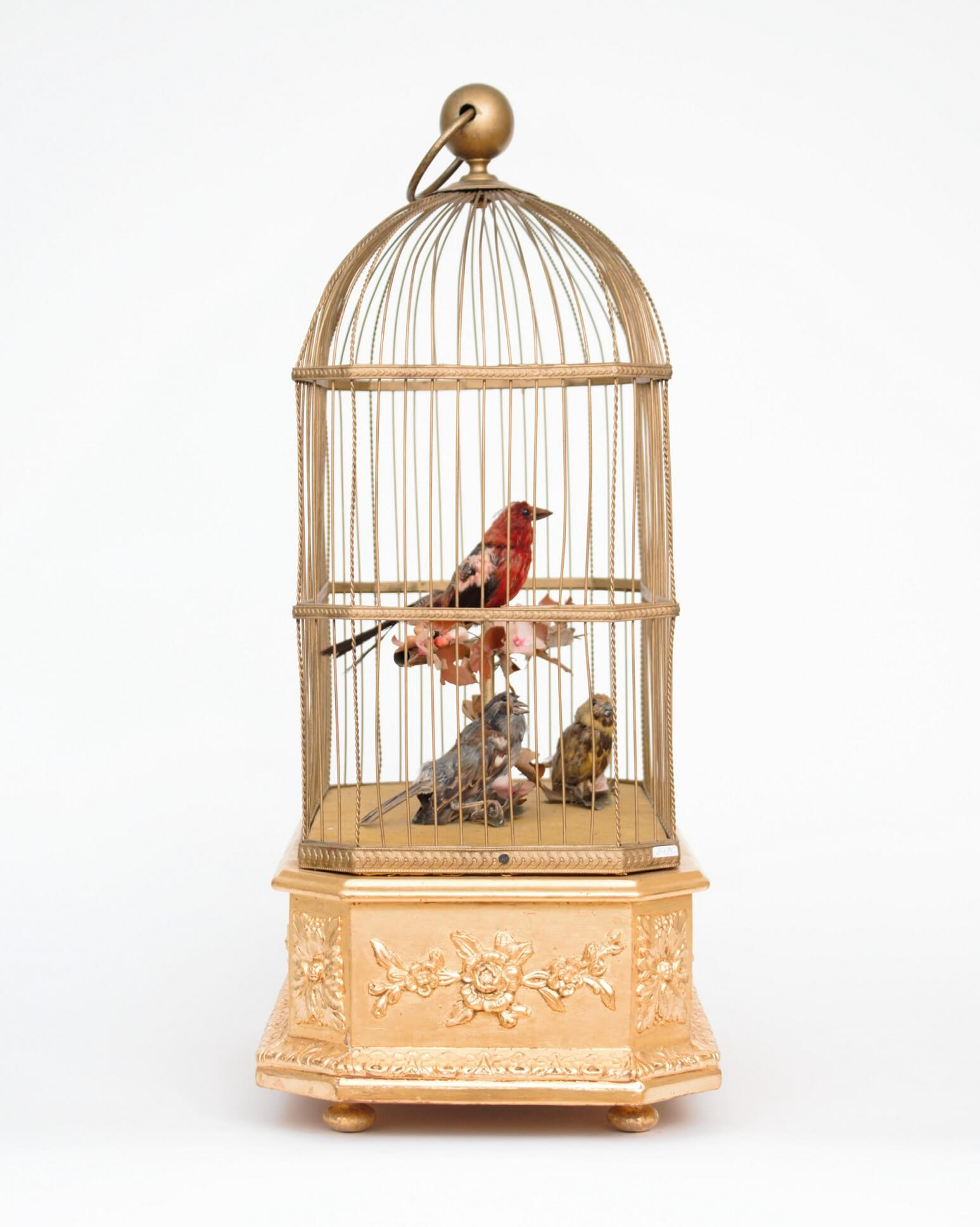 French-automaton-singing-bird-musical-animated-gilt-bird Cage-bontems-