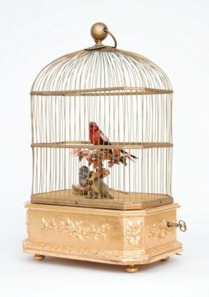 A French Gilt 'singing Bird Automaton' Birdcage, Bontems, Circa 1880