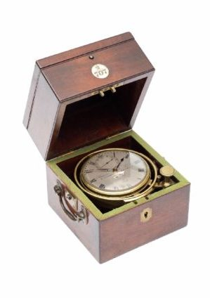 Een Kleine Engelse Mahonie 2-daagse Chroometer, Barrauds & Lund London, Circa 1840