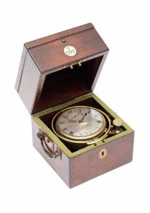 A Small English Mahogany Two Day Chronometer, Barrauds & Lund London, Circa 1840