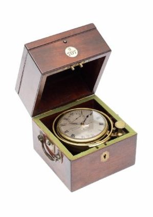 English-mahogany-brass-marine-ships-chronometer-Barraud-Lund-London-Cornhill-precision-two Day-