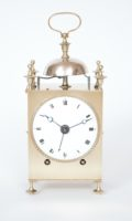 French-Capucine-brass-striking-repeating-alarm-travel-carriage-antique-clock-1
