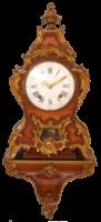 French-Antique Clock-Frederic Duval A Paris.-Rosewood Cartel-ormolu-bronze Ormoly, Louis XVI-2