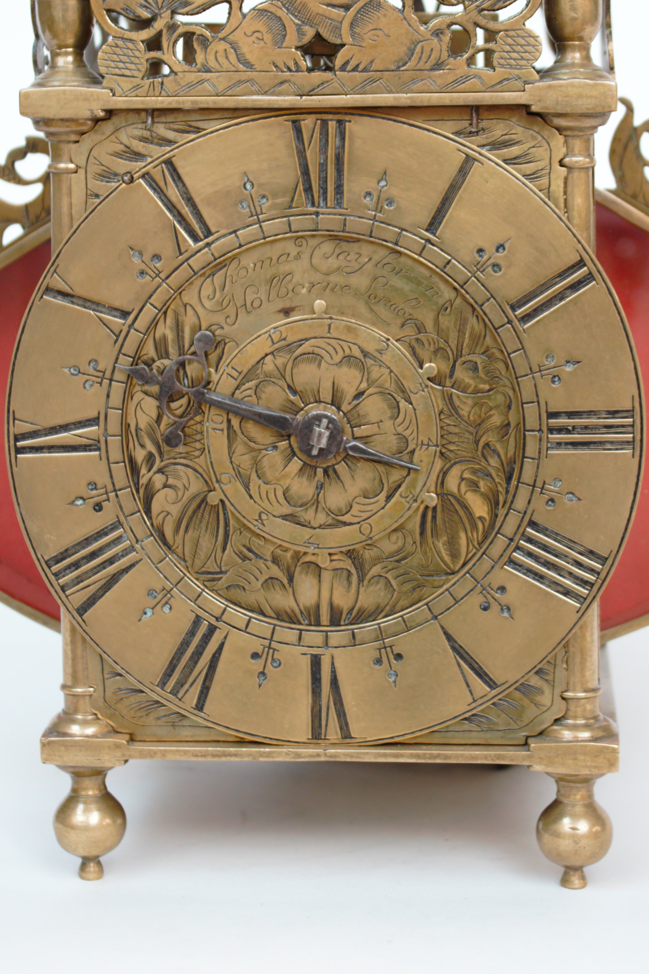 English-brass-striking-alarm-engraved-lantern-antique-wall-Thomas-Taylor-London-wall-clock-poets