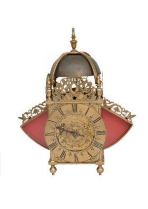 An English Brass Lantern Clock With Wings, Thomas Taylor Holborne London, Circa 1680