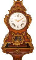 French-Antique Clock-Frederic Duval A Paris.-Rosewood Cartel-ormolu-bronze Ormoly, Louis XVI-2