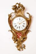 French-Louis XV-ormolu-gilt-bronze-cartel-antique-wall-clock-quarter Repeating-d'alcove-deschamps-paris