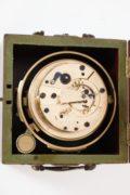 English-mahogany-brass-marine-ships-chronometer-Barraud-Lund-London-Cornhill-precision-two Day-