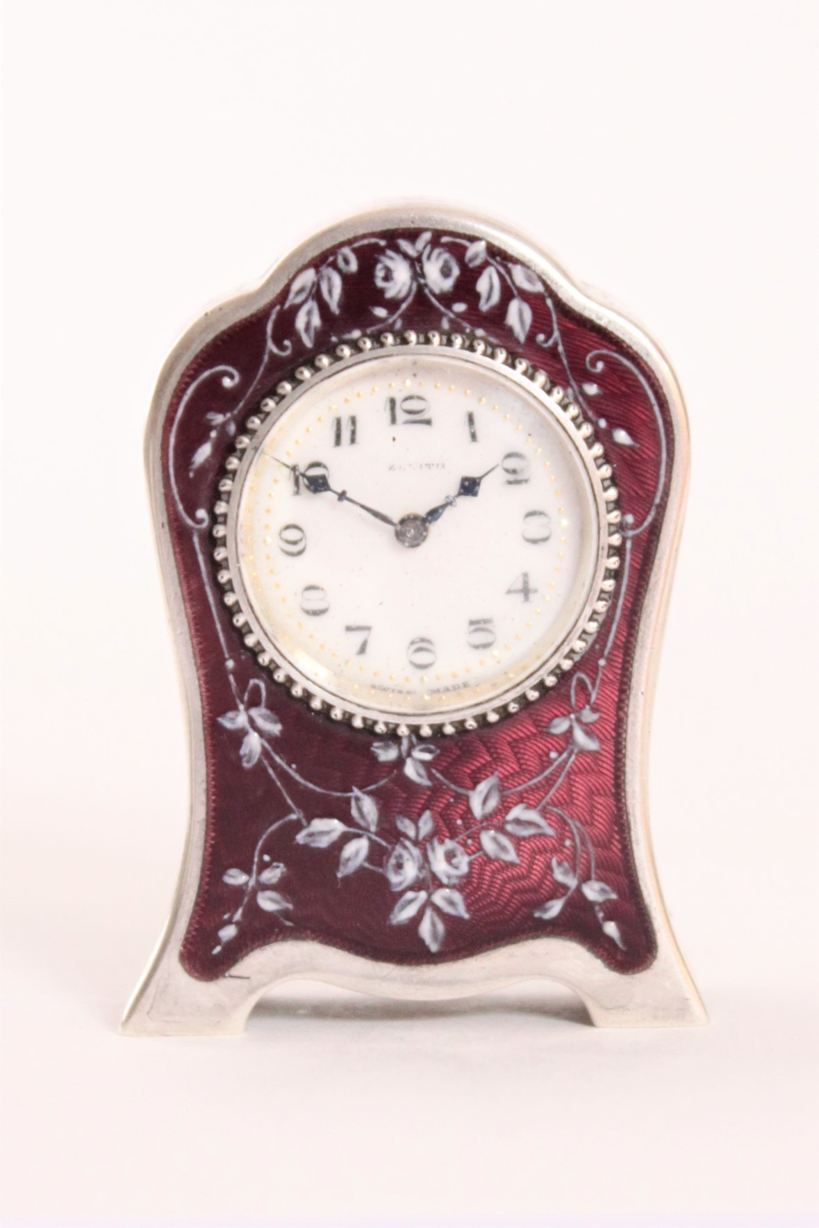 Swiss-guilloche-translucent-enamel-miniature-travel-antique-clock-zenith-