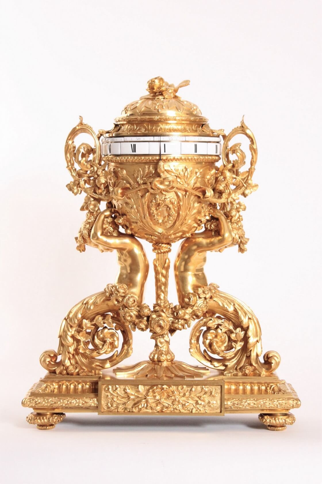 French-Napoleon III-sculptural-gilt-bronze-cercles-tournants-annular-antique-clock-renaissance-style-deniere-paris