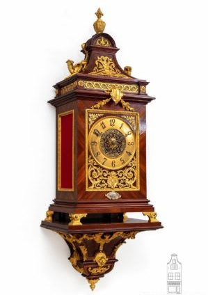 French-kingswood-ecclectic-gilt-bronze-sculptural-renaissance-planchon-antique-bracket-clock