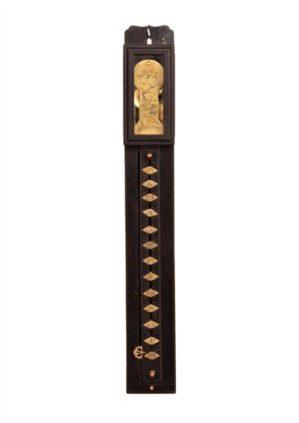 Japan-japanese-ebony-shaku-dokei-pillar-antique-clock-brass