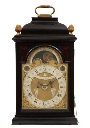 A Dutch Bracket Clock With Moonphase And Full Calendar, L. Vrijthoff Haga, Circa 1740