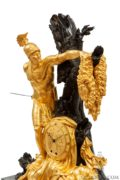 French-Empire-ormolu-bronze-marble-Jason-Feuchere-Galle-antique-clock-striking-malmaison-paris