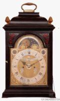 Vrijthoff Hague Dutch Bracket Clock Ebonised Moonphase Calendar 1