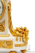 French-Louis XVI-borne-gilt-bronze-calendar-date-day-antique-mantel-clock-Bourdier-Paris-striking