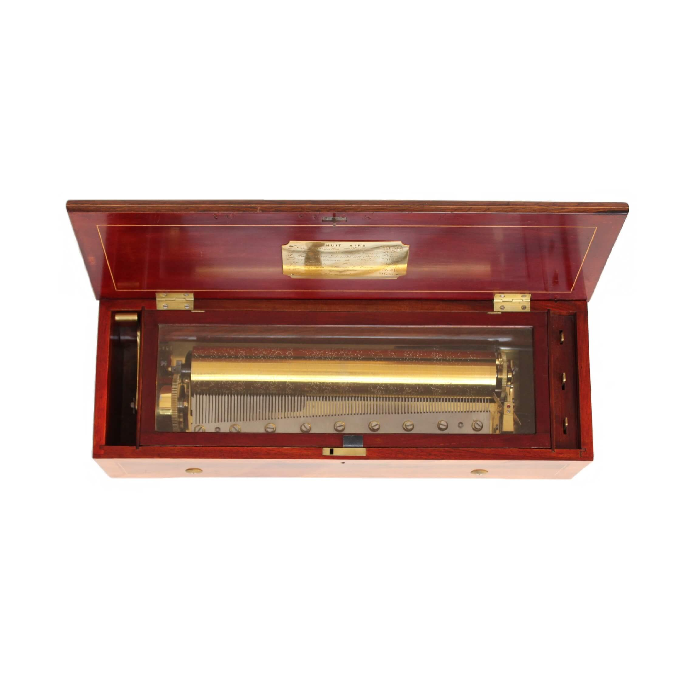 Swiss-LeCoultre-Geneva-rosewood-marquetry-antique-cylinder-music-box-mechanical-music-8 Air-