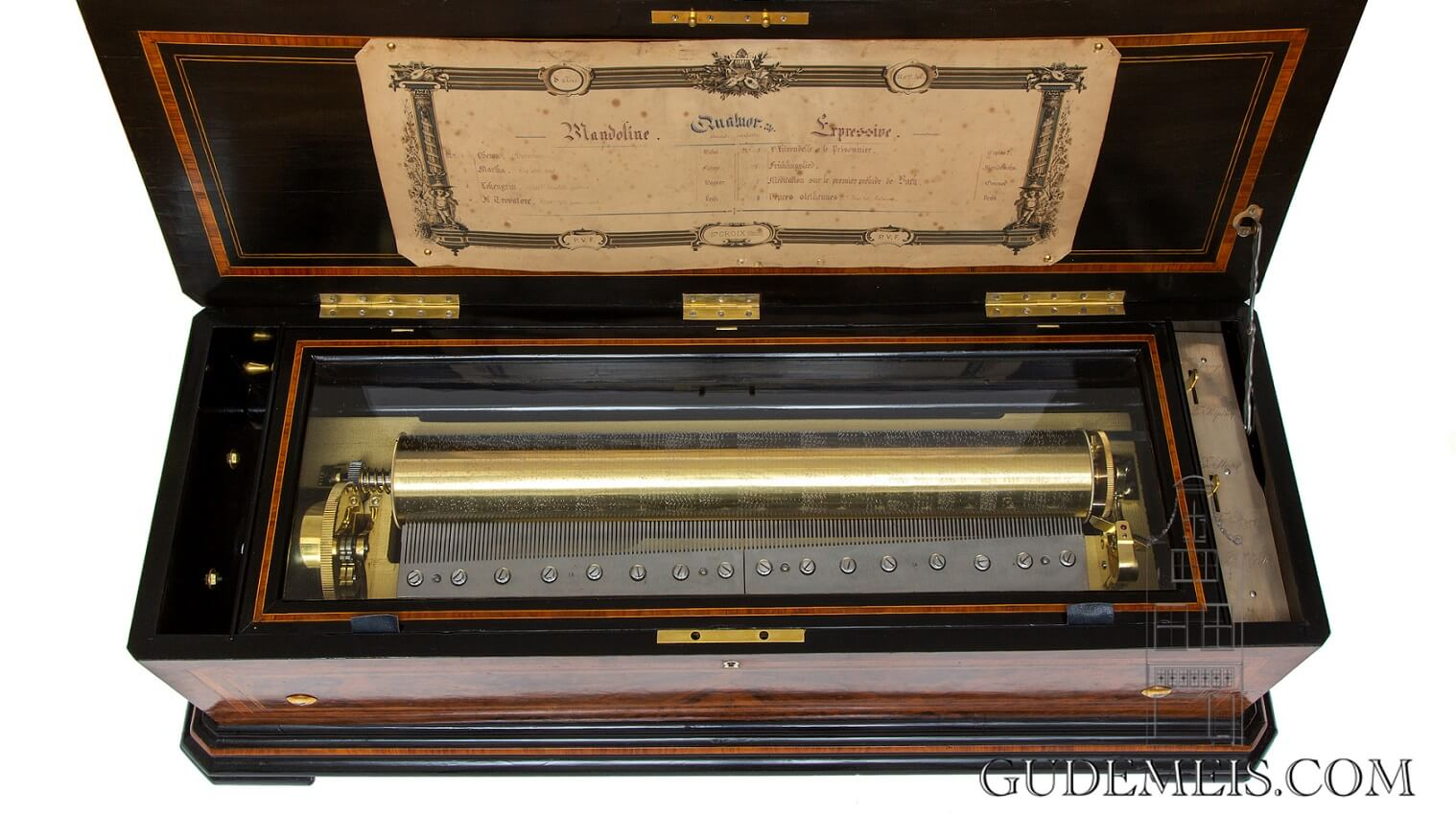 Swiss-PVF-Paillard-Vaucher-burr-walnut-cylinder-mandoline-quatuor-music-box-mechanical-music