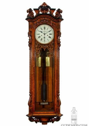 english-carved-oak-sculptural-precision-regulator-manchester-victorian-sweep-seconds-impressive-wall-antique-clock-striking