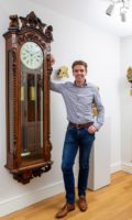 English-carved-oak-sculptural-precision-regulator-manchester-victorian-sweep-seconds-impressive-wall-antique-clock-striking