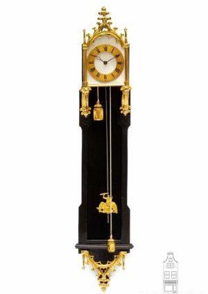 Austrian-Vienna-ebony-ebonised-brettl-neo-gothic-miniature-wall-antique-clock-