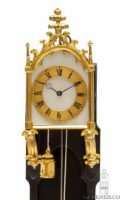 Austrian-Vienna-ebony-ebonised-brettl-neo-gothic-miniature-wall-antique-clock-