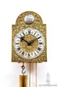 Austrian-rococo-foliate-engraved-brass-brettl-wall-antique-clock-timepiece-wien-vienna-viena-