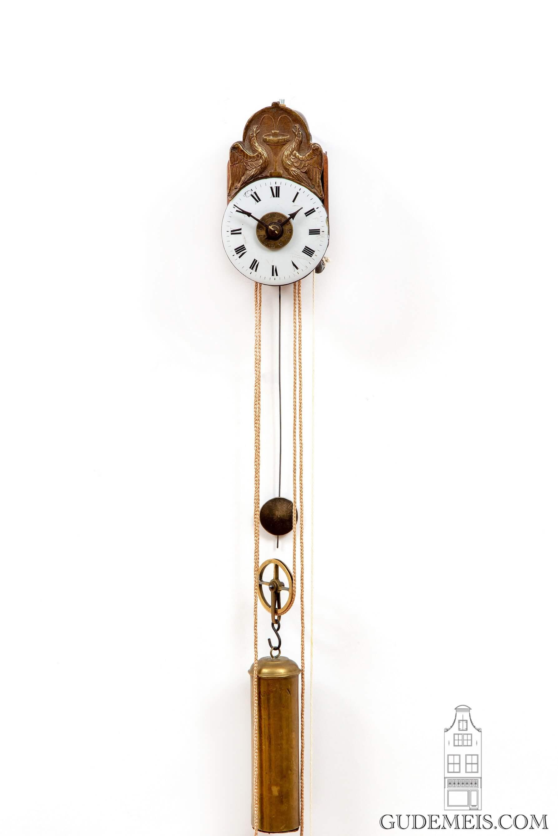 German-Black-Forest-Joseph-Sorg-tropfen-miniature-striking-alarm-antique-wall-clock-