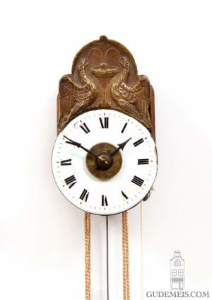German-Black-Forest-Joseph-Sorg-tropfen-miniature-striking-alarm-antique-wall-clock-