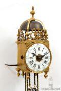 Miniature-French-Louis XV-brass-lantern-clock-striking-alarm-antique-clock-