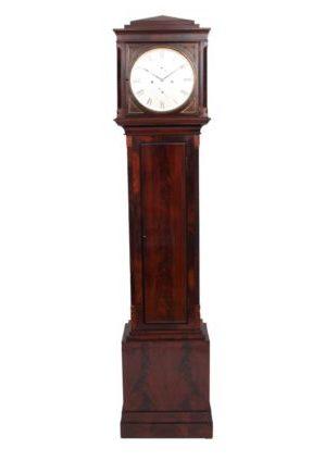 scottish-english-georgian-mahogany-miniature-brass-small-striking-mitchell-glasgow-antique-longcase-clock-